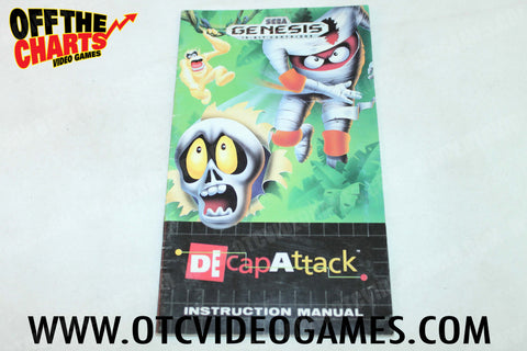 Decap Attack Manual - Off the Charts Video Games