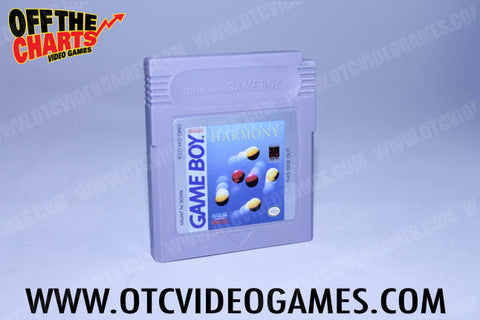 Harmony Game Boy Game Off the Charts