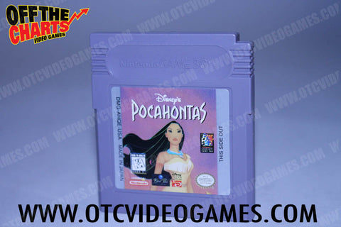 Pocahontas Game Boy Game Off the Charts