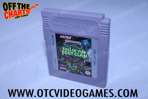 Teenage Mutant Ninja Turtles Fall of the Foot Clan Game Boy Game Off the Charts