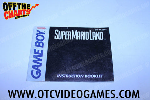 Super Mario Land Manual Game Boy Manual Off the Charts