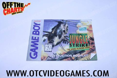 Jungle Strike Manual Game Boy Manual Off the Charts