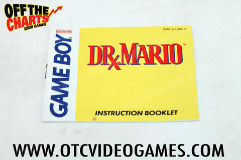 Dr. Mario Manual Game Boy Manual Off the Charts