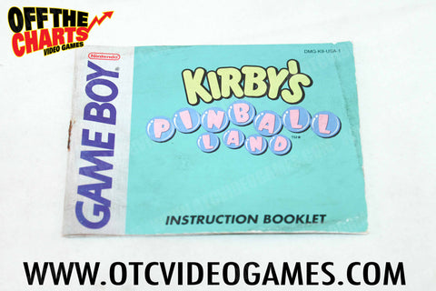 Kirby's Pinball Land Manual - Off the Charts Video Games
