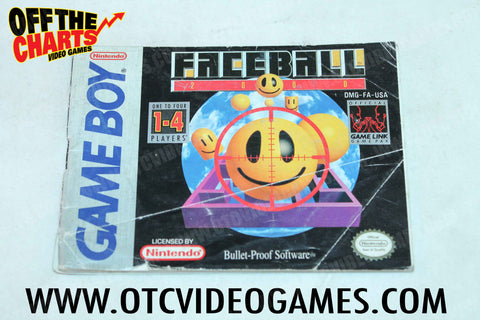 Faceball 2000 Manual - Off the Charts Video Games