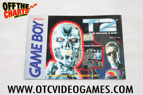 T2 The Arcade Game Manual - Off the Charts Video Games