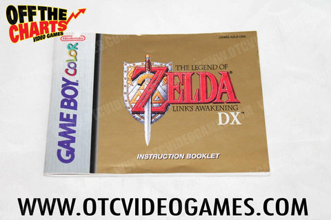 The Legend of Zelda: Link's Awakening DX Manual Game Boy Color Manual Off the Charts