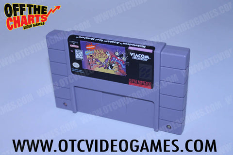 Aaah Real Monsters Super Nintendo Game Off the Charts
