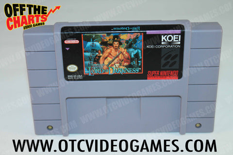 Lord of Darkness Super Nintendo Game Off the Charts