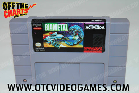 Biometal Super Nintendo Game Off the Charts