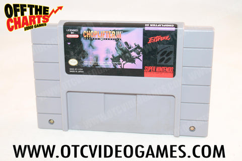 Choplifter III Super Nintendo Game Off the Charts