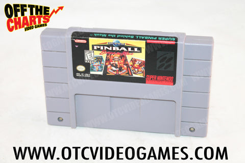 Super Pinball: Behind the Mask Super Nintendo Game Off the Charts
