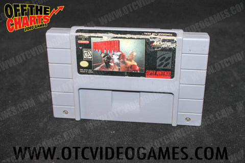 Foreman For Real Boxing Super Nintendo Game Off the Charts