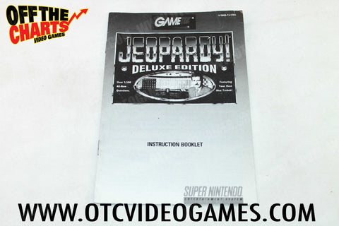 Jeopardy Deluxe Edition Manual - Off the Charts Video Games