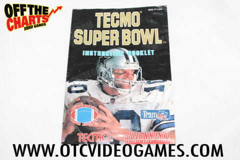 Tecmo Super Bowl Manual - Off the Charts Video Games