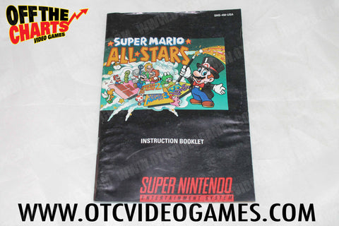 Super Mario All Stars Manual Super Nintendo Manual Off the Charts