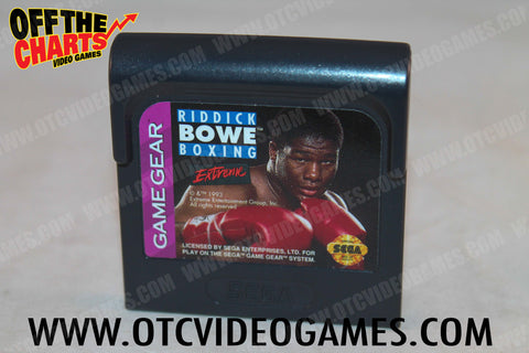 Riddick Bowe Boxing - Off the Charts Video Games