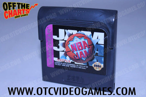 NBA Jam Game Gear Game Off the Charts