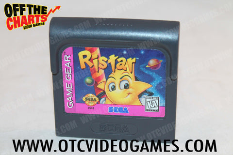 Ristar Game Gear Game Off the Charts
