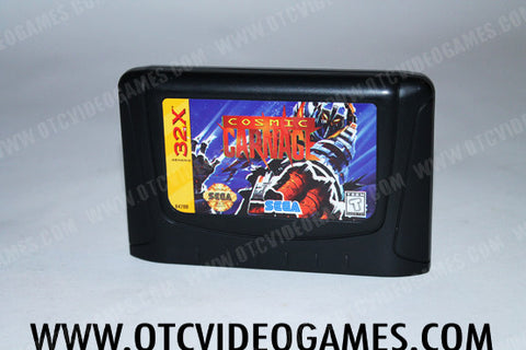 Cosmic Carnage Sega 32x Game Off the Charts