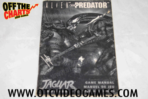 Alien Vs. Predator Manual - Off the Charts Video Games