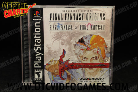 Final Fantasy Origins Playstation Game Off the Charts