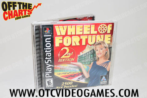 Wheel of Fortune 2nd Edition Playstation Game Off the Charts