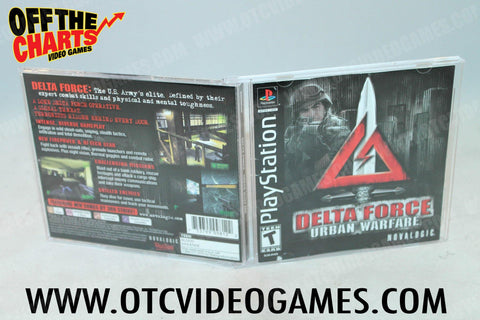 Delta Force Urban Warfare Playstation Game Off the Charts