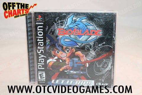 Beyblade Playstation Game Off the Charts