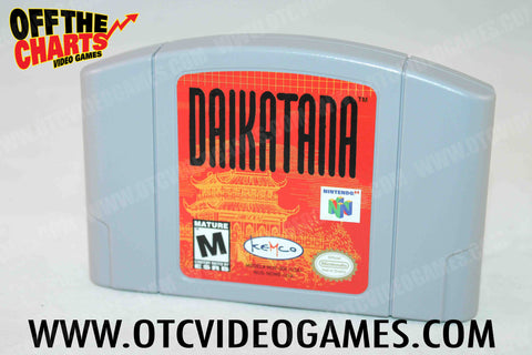Daikatana Nintendo 64 Game Off the Charts