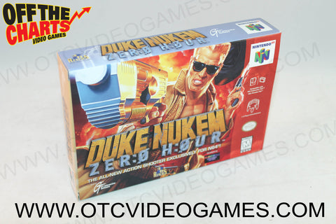Duke Nukem Zero Hour Box Nintendo 64 Box Off the Charts