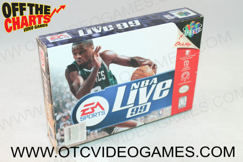 NBA Live '99 Box Nintendo 64 Box Off the Charts