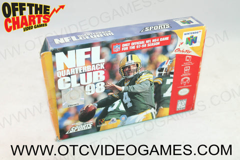 NFL Quarterback Club '98 Box - Off the Charts Video Games