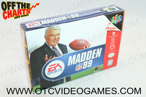 Madden '99 Box - Off the Charts Video Games