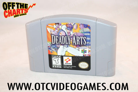 Deadly Arts Nintendo 64 Game Off the Charts