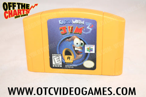 Earthworm Jim 3D Nintendo 64 Game Off the Charts