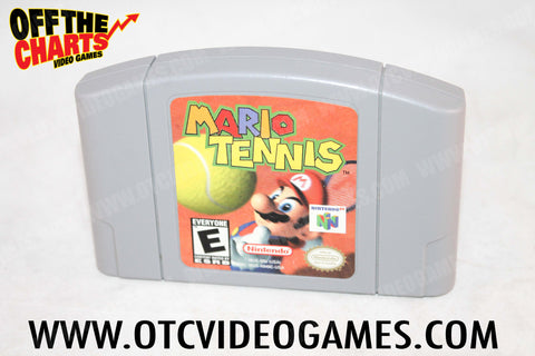 Mario Tennis Nintendo 64 Game Off the Charts
