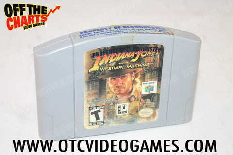 Indiana Jones and the Infernal Machine Nintendo 64 Game Off the Charts