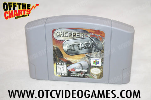 Chopper Attack Nintendo 64 Game Off the Charts