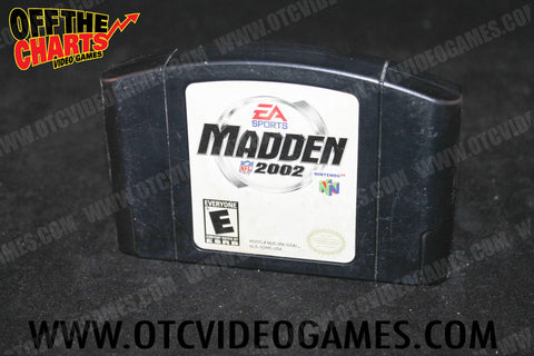 Madden 2002 Nintendo 64 Game Off the Charts
