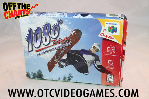 1080 Snowboarding Box Only Nintendo 64 Box Off the Charts