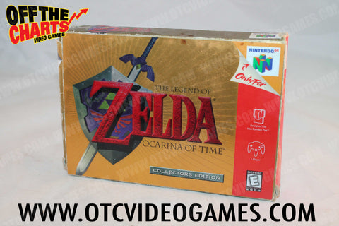 The Legend of Zelda Ocarina of Time Collector's Edition Box Only Nintendo 64 Box Off the Charts