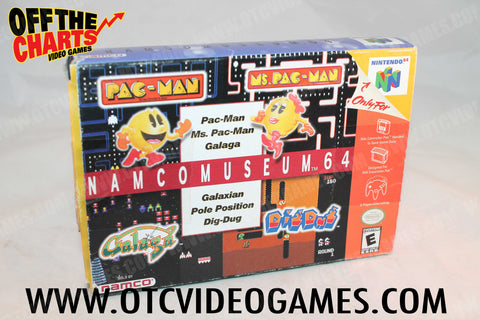Namco Museum 64 Box Only - Off the Charts Video Games