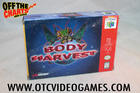 Body Harvest Box Only Nintendo 64 Box Off the Charts