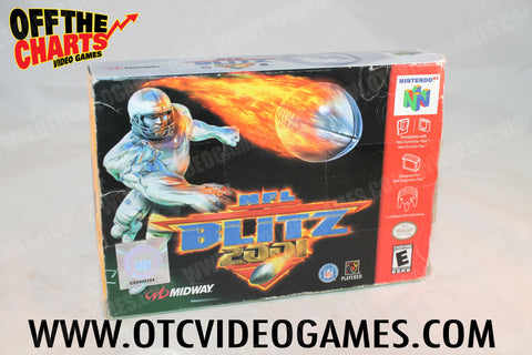 NFL Blitz 2001 Box Only Nintendo 64 Box Off the Charts