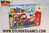Mario Golf Box Only Nintendo 64 Box Off the Charts