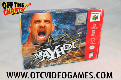WCW Mayhem Box Only - Off the Charts Video Games