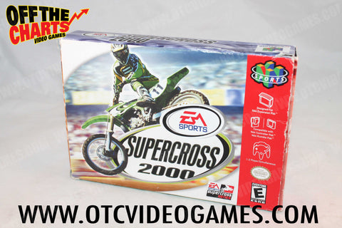Supercross 2000 Box Only Nintendo 64 Box Off the Charts