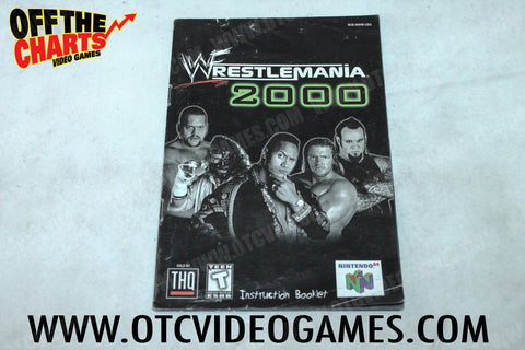 Wrestlemania 2000 Manual - Off the Charts Video Games