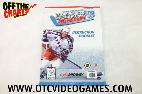 Wayne Gretzky's 3D Hockey '98 Manual - Off the Charts Video Games